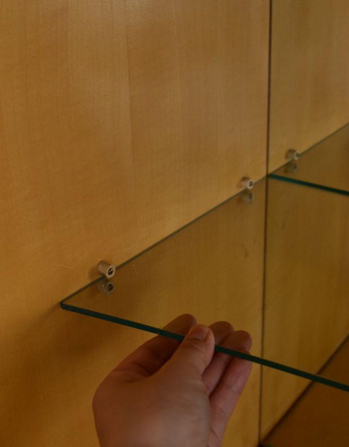 k-1395-f アンティークキャビネットの扉のガラス棚