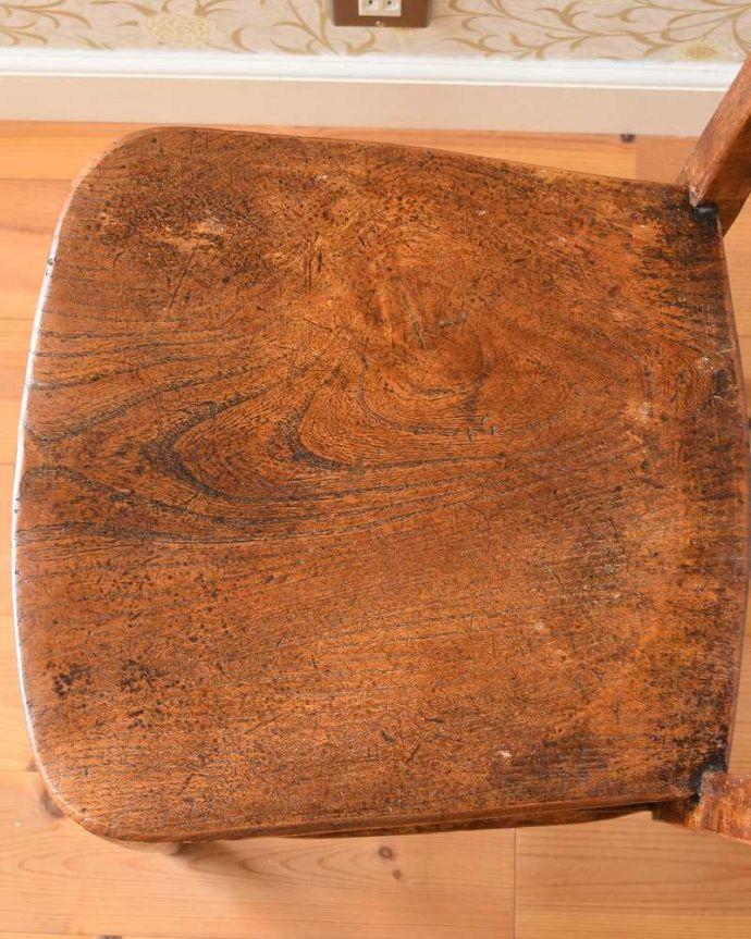 k-1402-c アンティークキッチンチェアの座面