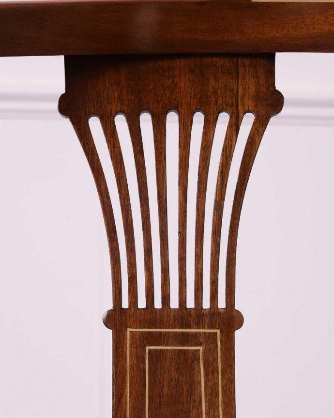 k-1411-c アンティークコーナーチェアの装飾