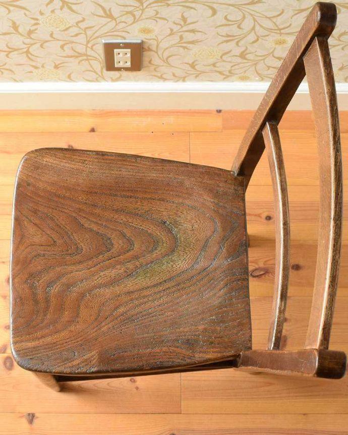 k-1431-c アンティークキッチンチェアの座面