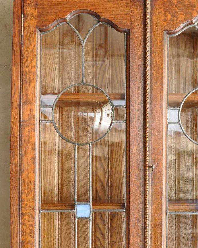 k-1433-f アンティークビューローの扉のガラス