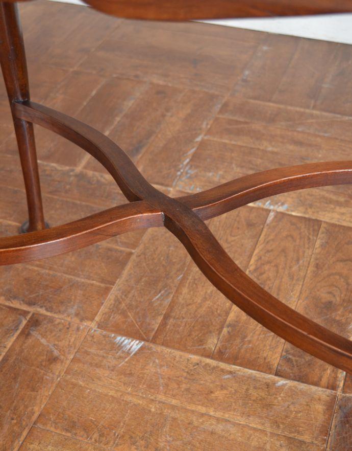 k-1447-f アンティークオケージョナルテーブルの桟