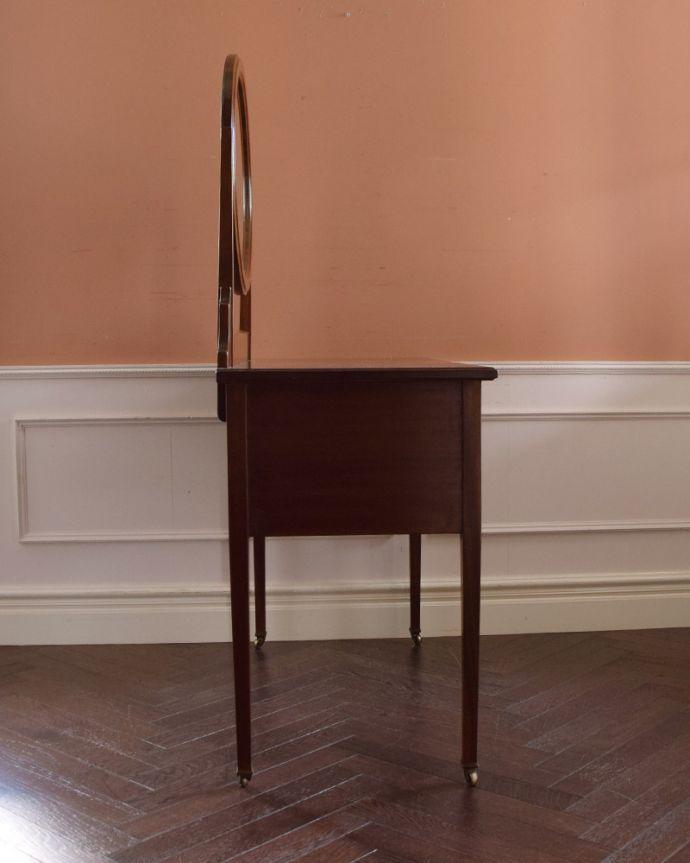 k-1458-f アンティークドレッシングテーブルの横