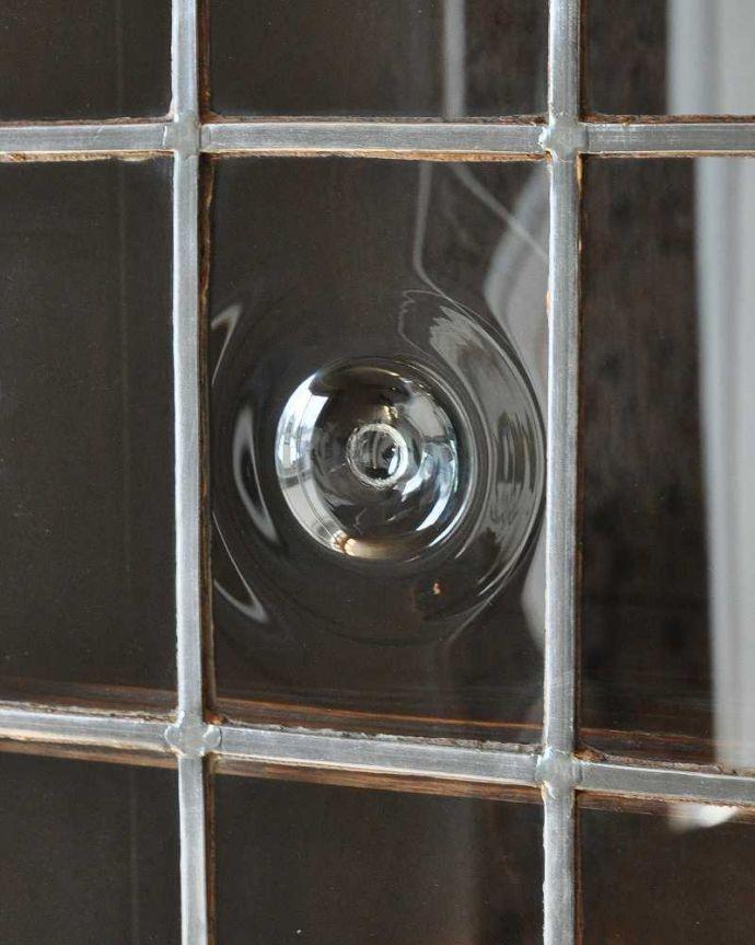 k-1463-f アンティークビューローのガラスのアップ