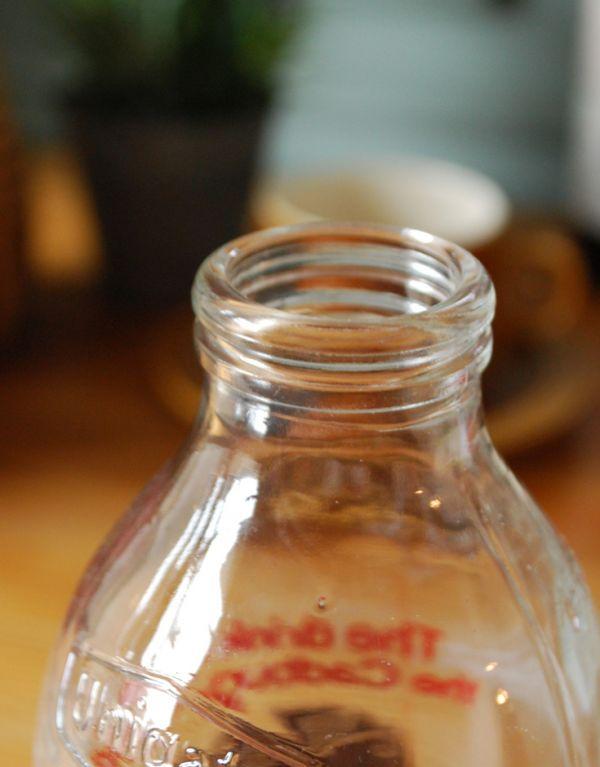 k-1488-z アンティークガラスボトル(DRINKING CHOCOLATE)の上から