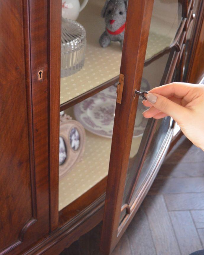 k-1498-f アンティークガラスキャビネットの鍵