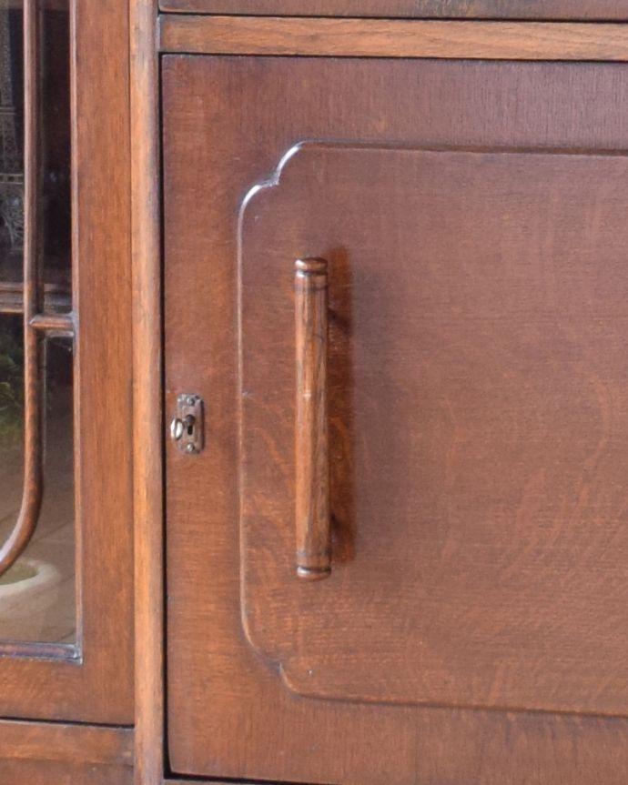 k-1503-f アンティークサイドバイサイド(本棚とビューロー)の取っ手と鍵
