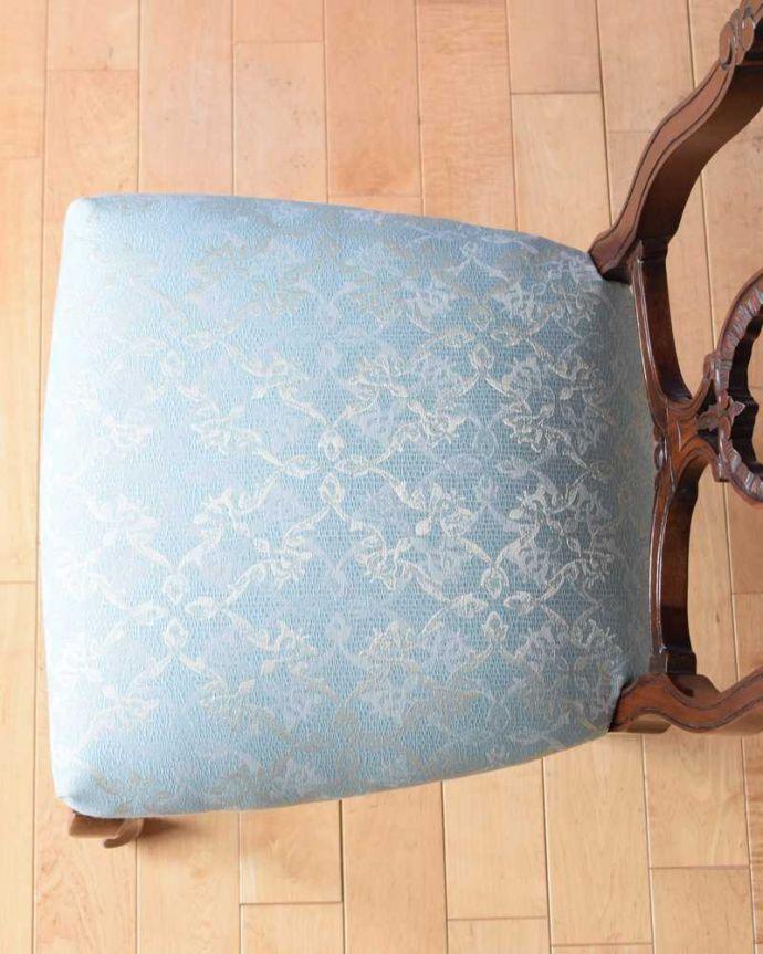 アンティークの椅子の座面