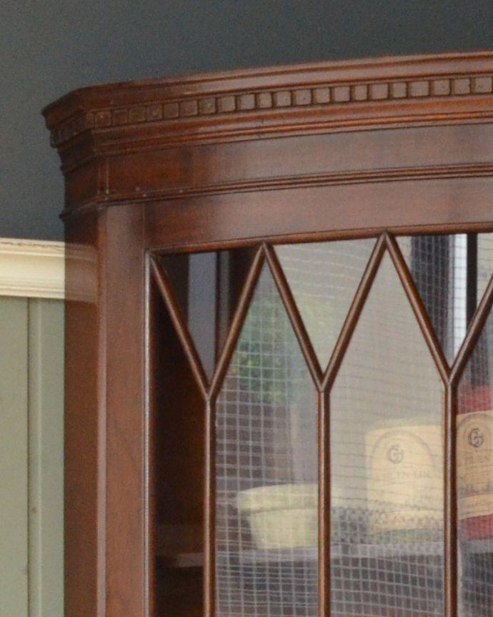 k-1556-f アンティークコーナーキャビネットの装飾