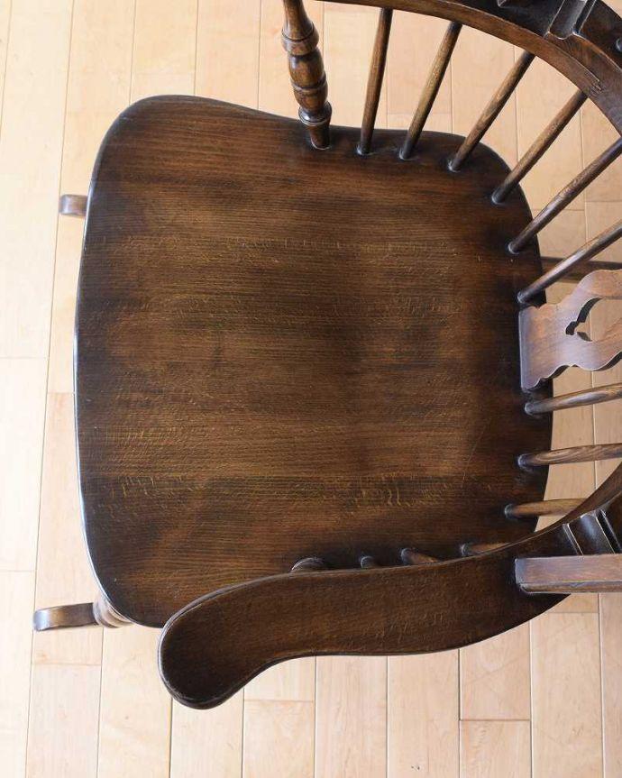 k-1567-c アンティークキッチンチェアの座面