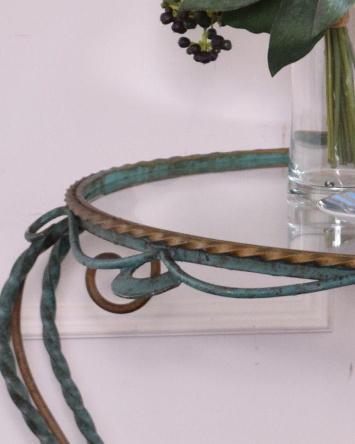 k-1602-f アンティークガラストップコーヒーテーブルの角