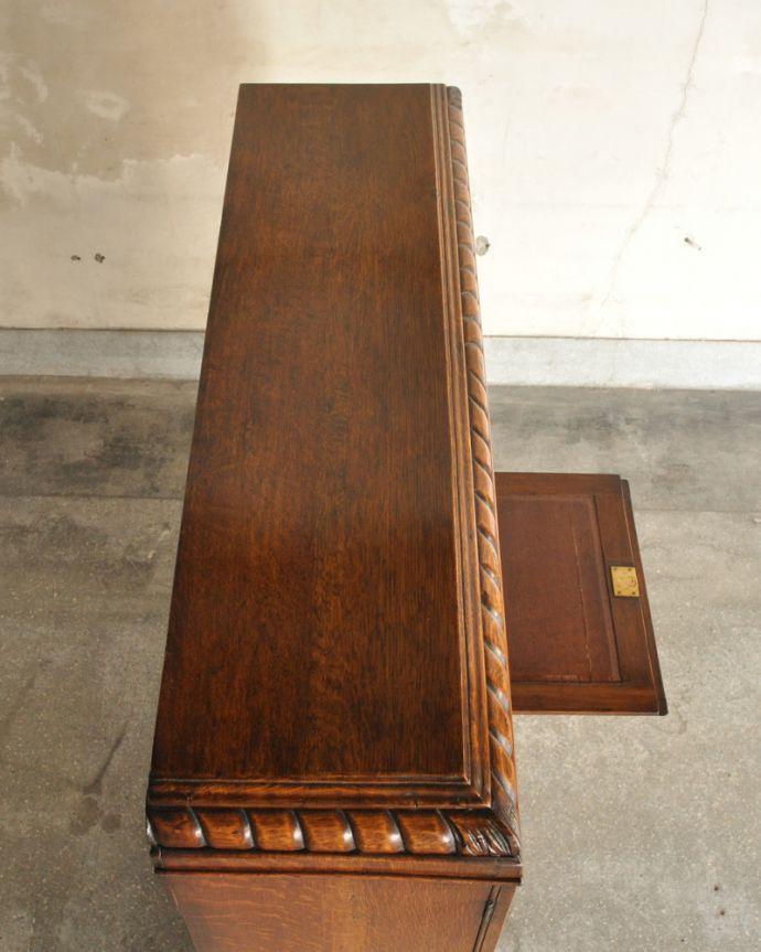 k-1618-f アンティークサイドバイサイド(本棚とビューロー)の天板