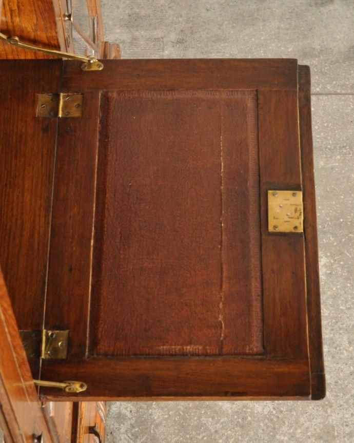 k-1618-f アンティークサイドバイサイド(本棚とビューロー)のデスク