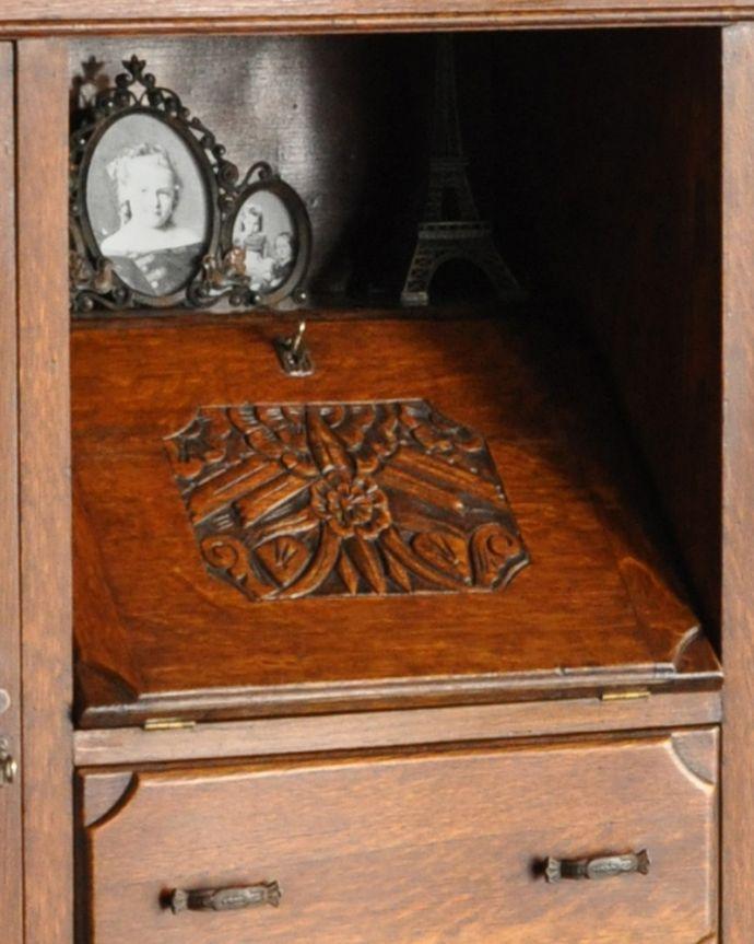 k-1618-f アンティークサイドバイサイド(本棚とビューロー)の鍵