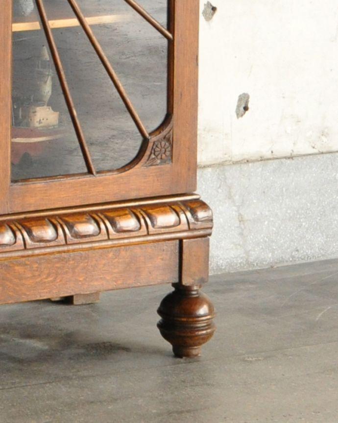 k-1618-f アンティークサイドバイサイド(本棚とビューロー)の脚