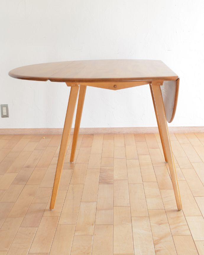 k-1640-f アンティークダイニングテーブルの片開き