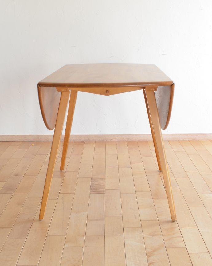 k-1640-f アンティークダイニングテーブルの閉じる