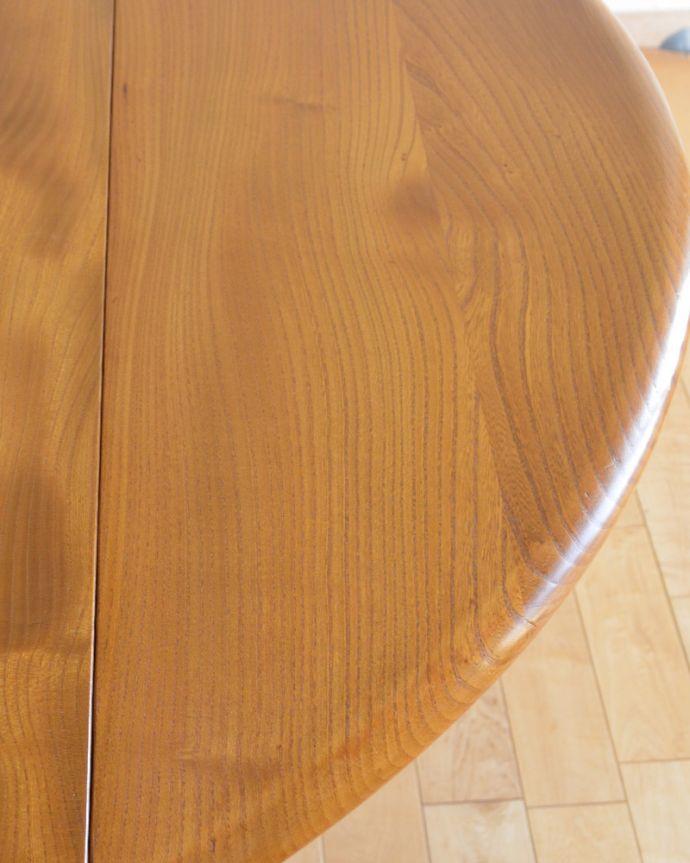k-1640-f アンティークダイニングテーブルの角