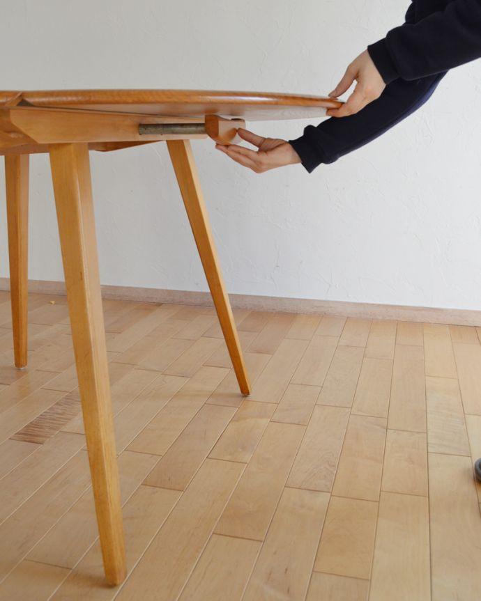 k-1640-f アンティークダイニングテーブルの組み立て