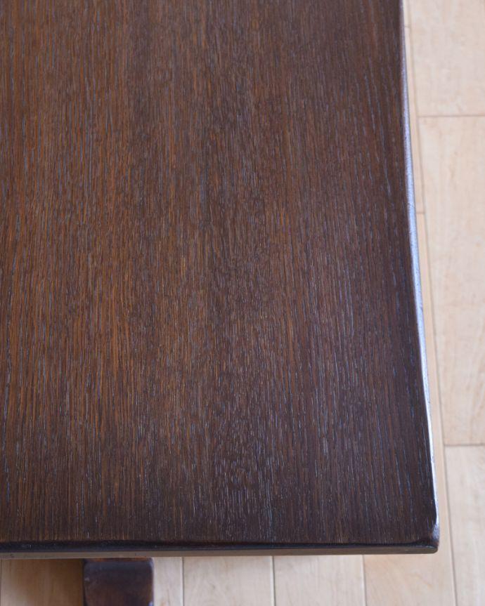 k-1641-f アンティークコーヒーテーブルの角
