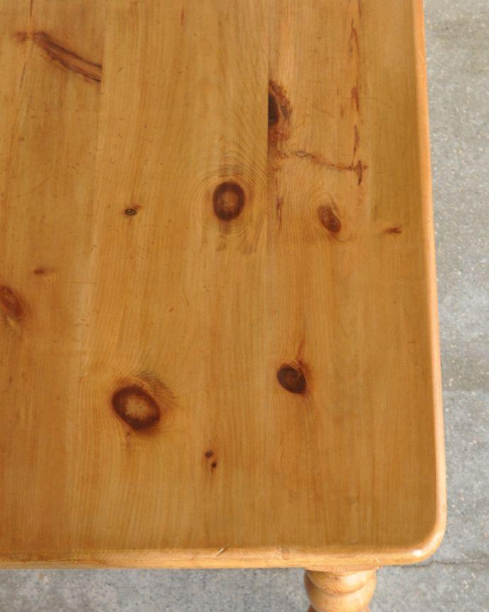 k-1643-f アンティークパインダイニングテーブルの角