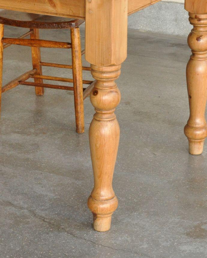 k-1643-f アンティークパインダイニングテーブルの脚