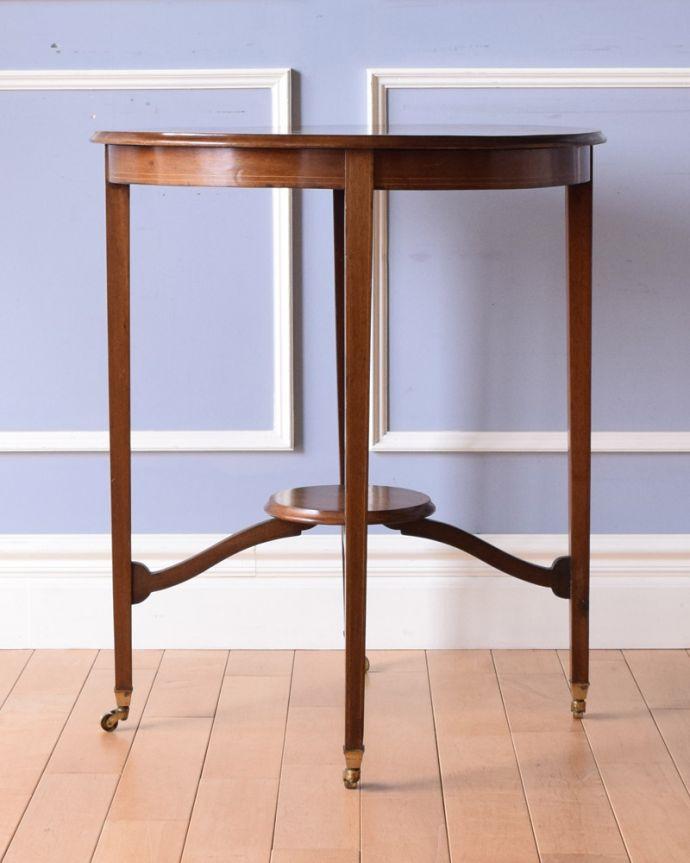 k-1645-f アンティークオケージョナルテーブルの正面