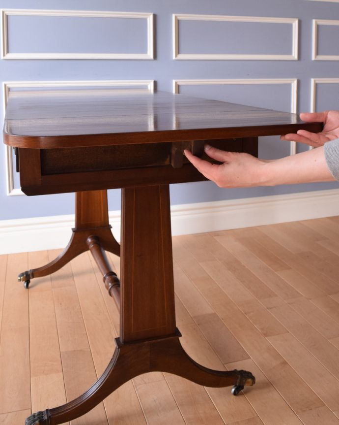 k-1646-f アンティークバタフライテーブルの組み立て