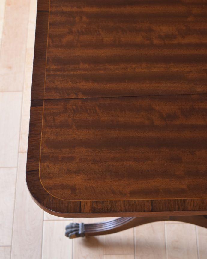 k-1646-f アンティークバタフライテーブルの角