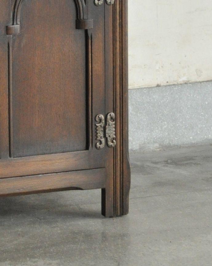 k-1657-f 英国のガラスキャビネット(カップボード)のガラス戸の脚