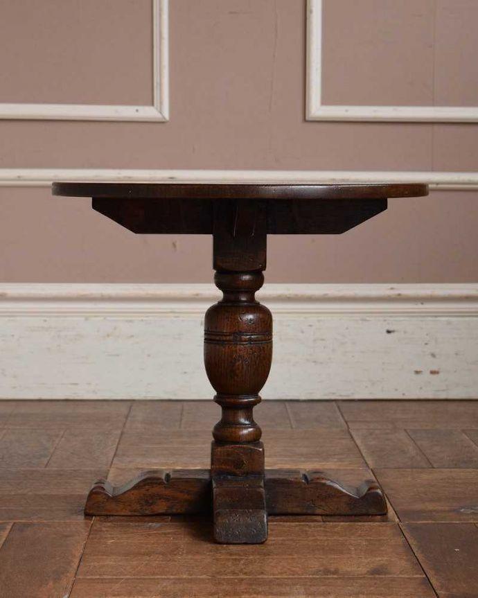 k-1664-f アンティークオケージョナルテーブルの横