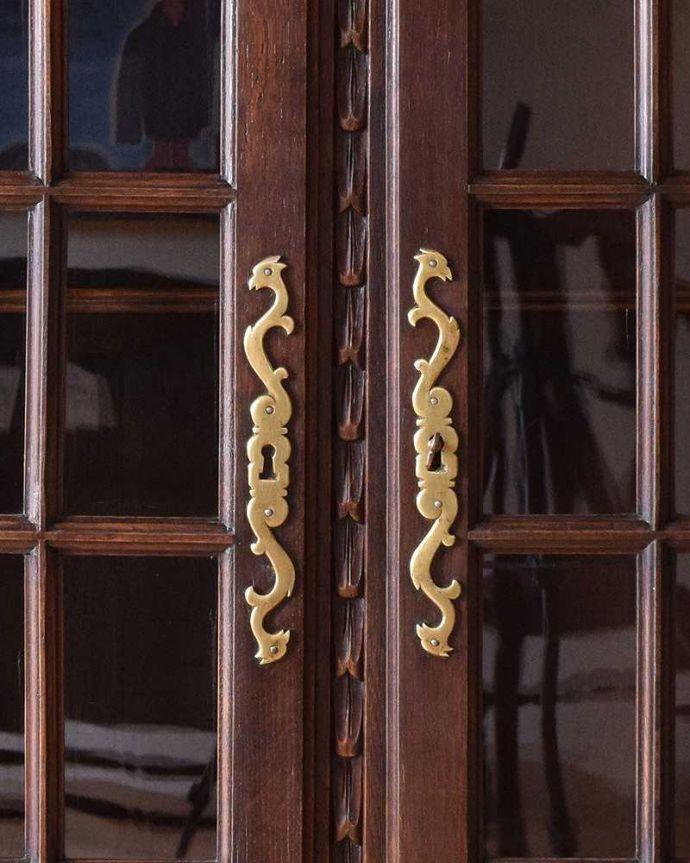 k-1665-f アンティークガラスキャビネットの扉の取っ手
