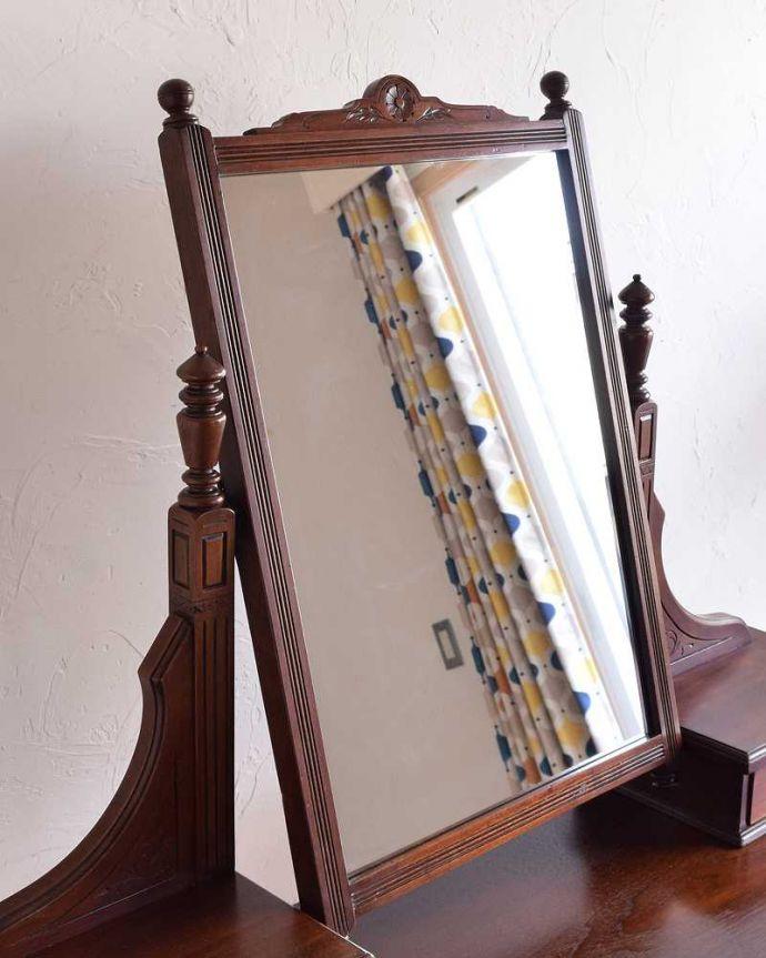 -1682-f アンティークドレッシングテーブル(デスク)のミラー