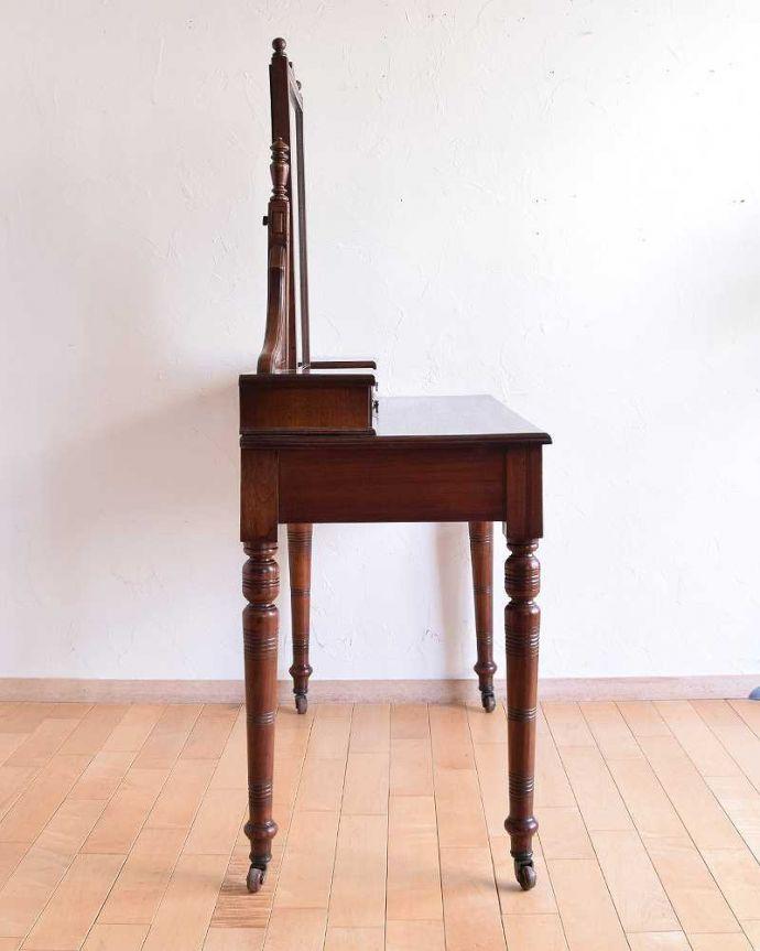 -1682-f アンティークドレッシングテーブル(デスク)の横