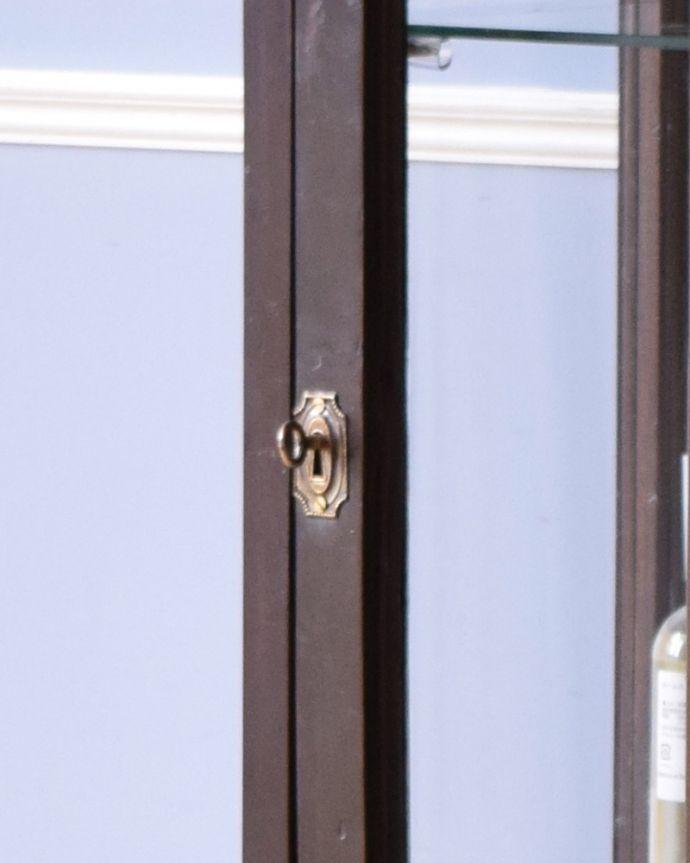 k-1693-f アンティークガラスキャビネットの鍵穴