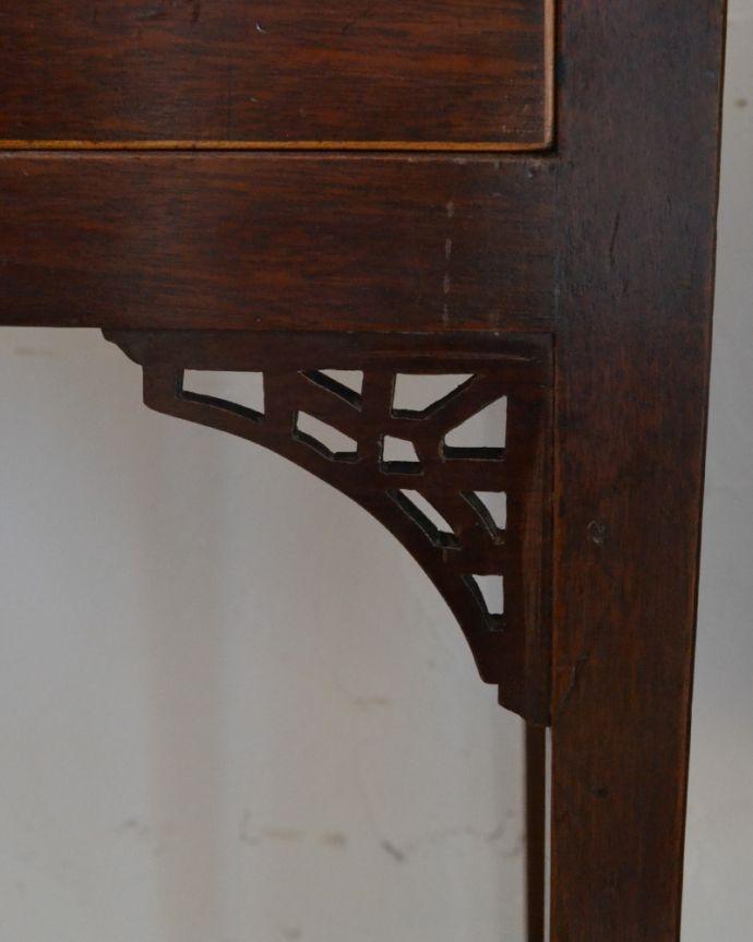 k-1694-f アンティークコンソールテーブルの脚の装飾