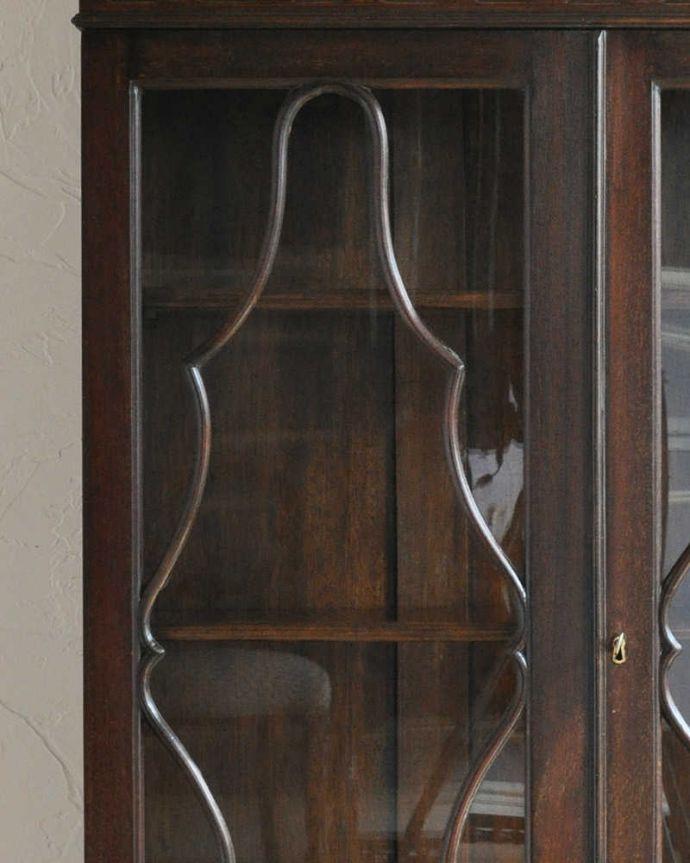 k-1703-f アンティークガラスキャビネットの装飾