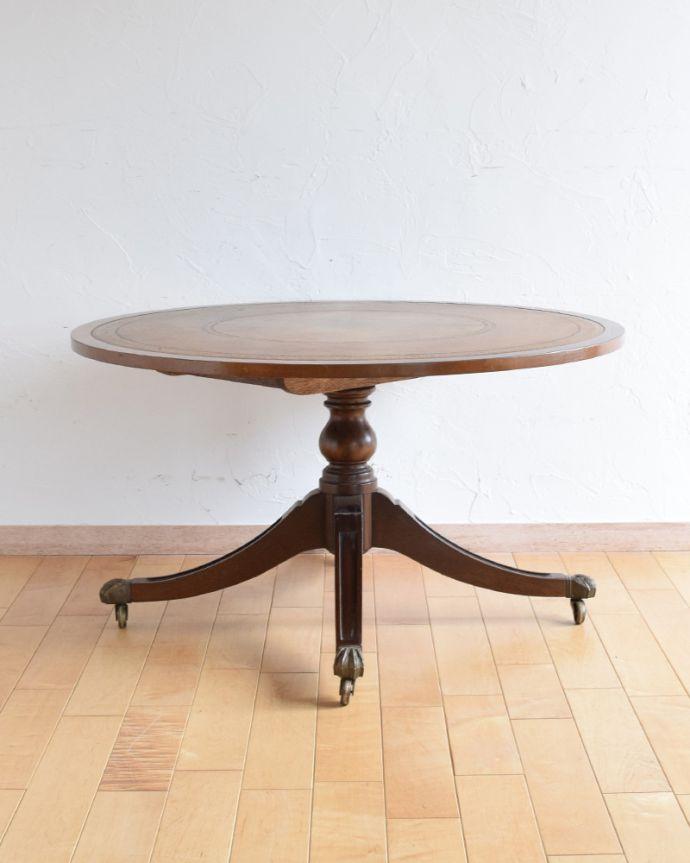 k-1707-f アンティークコーヒーテーブルの後ろ