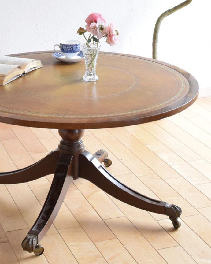 k-1707-f 英国アンティークコーヒーテーブルのズーム