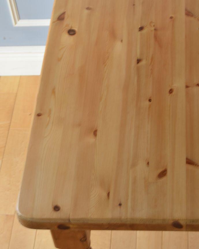 k-1728-f アンティークダイニングテーブル(パイン材)の角