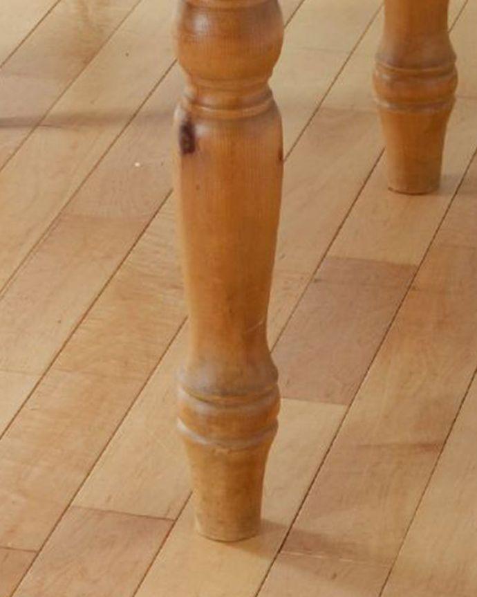 k-1728-f アンティークダイニングテーブル(パイン材)の脚