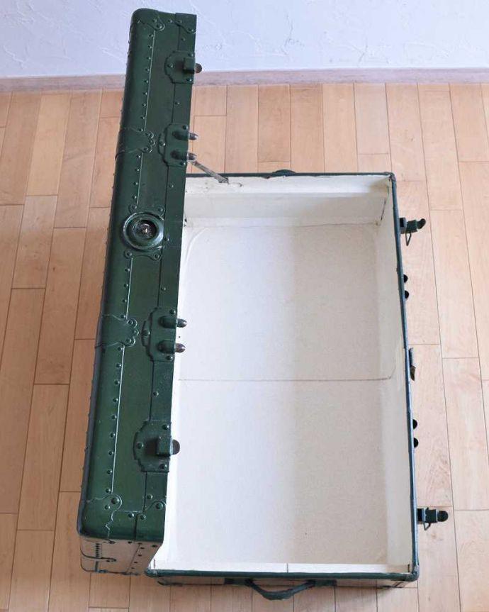 k-1731-f 英国輸入のアンティークトランクケースの内側
