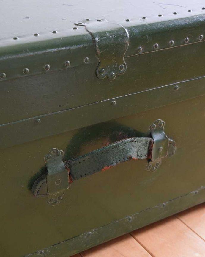 k-1731-f 英国輸入のアンティークトランクケースの持ち手