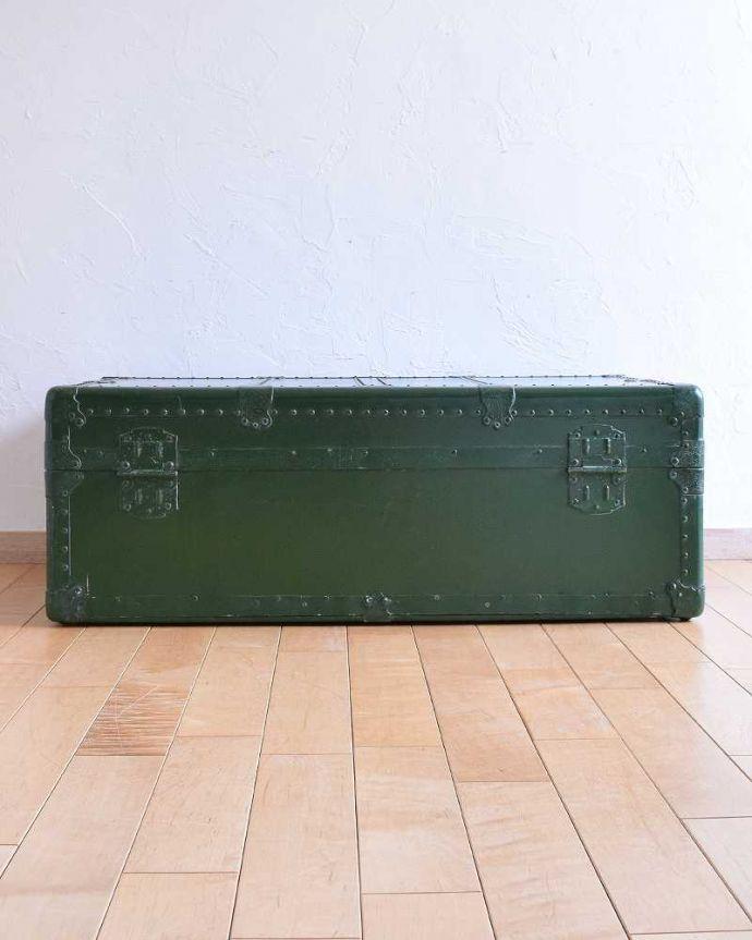 k-1731-f 英国輸入のアンティークトランクケースの裏