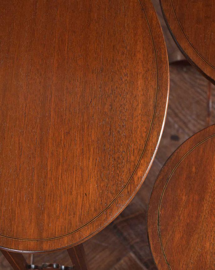 k-1750-f  アンティークネストテーブルの天板ズーム