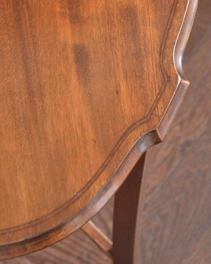 k-1773-f アンティークオケージョナルテーブルの天板ズーム