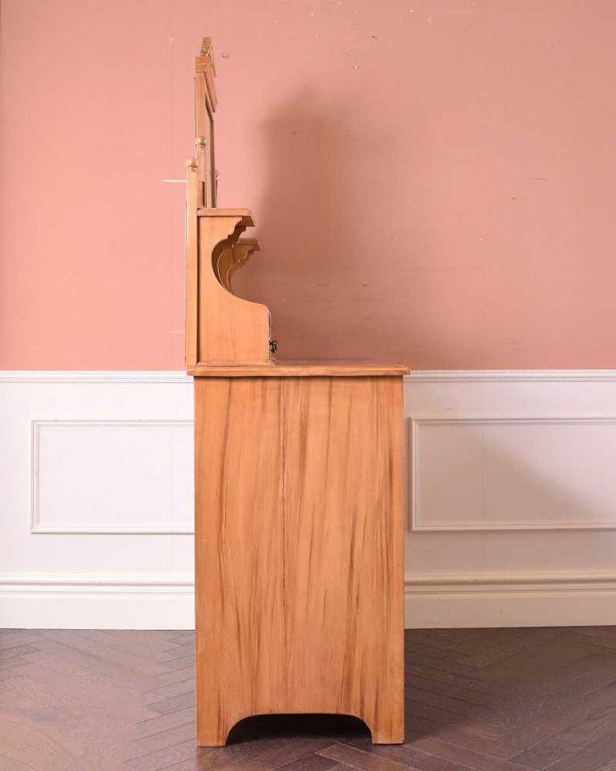 k-1814-f アンティークドレッシングテーブルの横