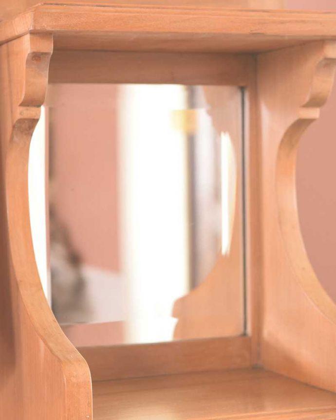 k-1814-f アンティークドレッシングテーブルの小さいミラー