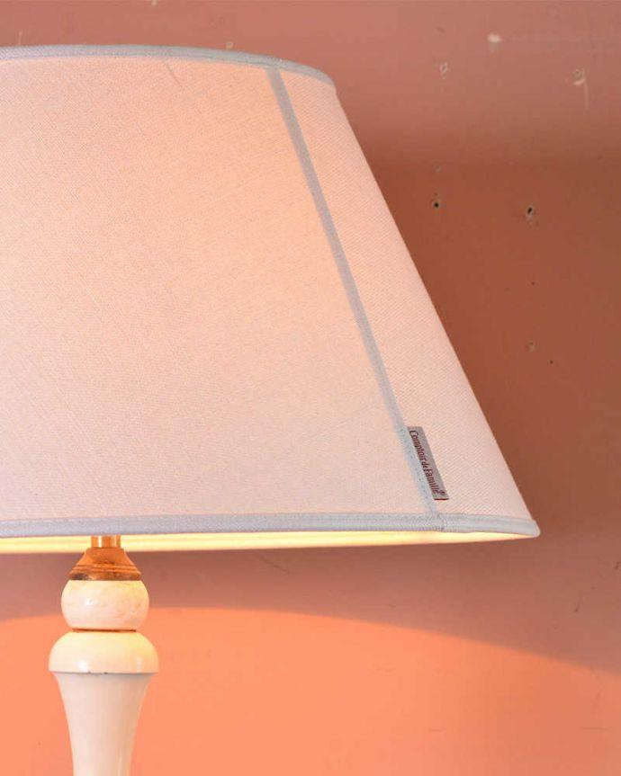 k-1826-f アンティークフロアランプの点灯ズーム
