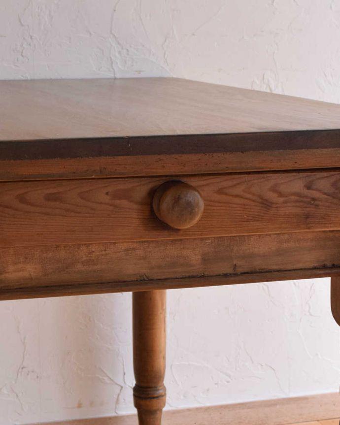 k-1831-f  アンティークリフェクトリーテーブルの引き出しの取っ手